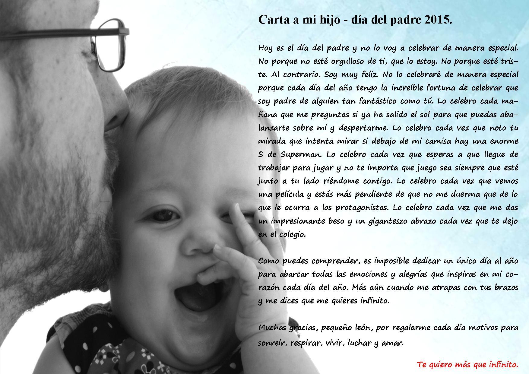 carta a mi hijo 2015